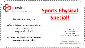 Sports Physicals Coupon